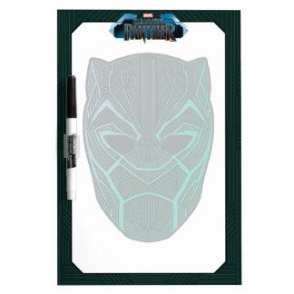 Black Panther   Black Panther Etched Mask Dry Erase Board