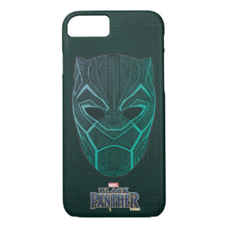 Black Panther | Black Panther Etched Mask iPhone 8/7 Case