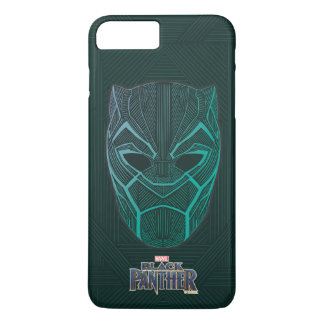 Black Panther | Black Panther Etched Mask iPhone 8 Plus/7 Plus Case