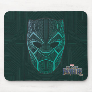 Black Panther | Black Panther Etched Mask Mouse Mat