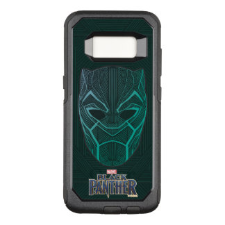 Black Panther   Black Panther Etched Mask OtterBox Commuter Samsung Galaxy S8 Case