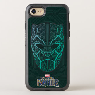 Black Panther | Black Panther Etched Mask OtterBox Symmetry iPhone 8/7 Case