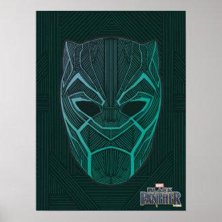 Black Panther | Black Panther Etched Mask Poster