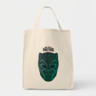 Black Panther   Black Panther Etched Mask Tote Bag
