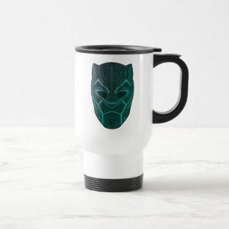 Black Panther   Black Panther Etched Mask Travel Mug