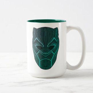 Black Panther | Black Panther Etched Mask Two-Tone Coffee Mug