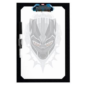 Black Panther   Black Panther Head Emblem Dry Erase Board