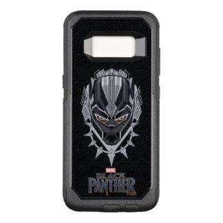 Black Panther   Black Panther Head Emblem OtterBox Commuter Samsung Galaxy S8 Case