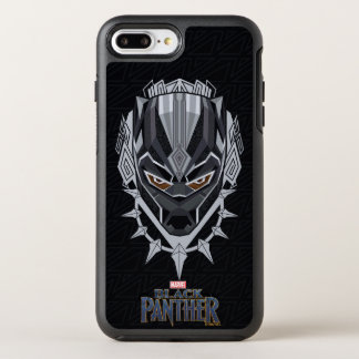 Black Panther | Black Panther Head Emblem OtterBox Symmetry iPhone 8 Plus/7 Plus Case