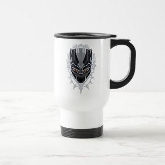 Black Panther   Black Panther Head Emblem Travel Mug