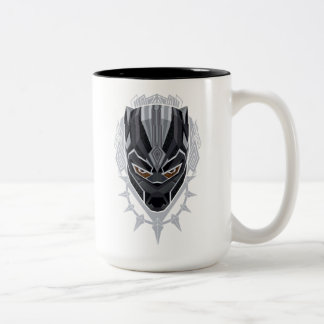 Black Panther | Black Panther Head Emblem Two-Tone Coffee Mug