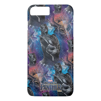 Black Panther | Black Panther & Mask Pattern iPhone 8 Plus/7 Plus Case
