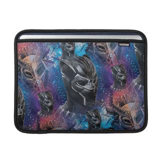 Black Panther | Black Panther & Mask Pattern MacBook Sleeve