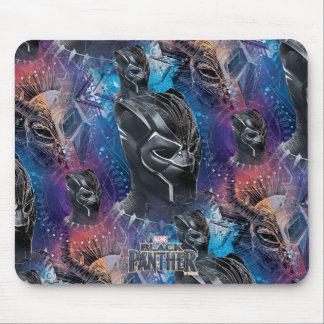 Black Panther | Black Panther & Mask Pattern Mouse Mat