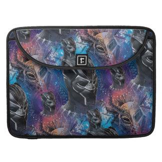 Black Panther | Black Panther & Mask Pattern Sleeve For MacBooks