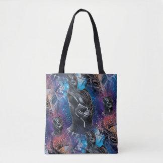 Black Panther | Black Panther & Mask Pattern Tote Bag