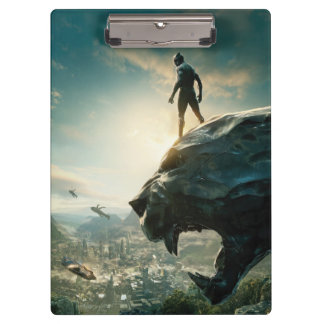 Black Panther | Black Panther Standing Atop Lair Clipboard