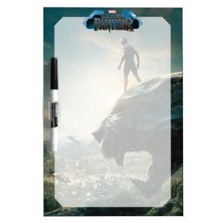 Black Panther | Black Panther Standing Atop Lair Dry Erase Board
