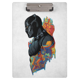 Black Panther | Black Panther Tribal Graffiti Clipboard
