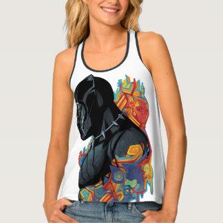Black Panther   Black Panther Tribal Graffiti Tank Top