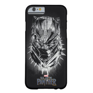 Black Panther | Black & White Head Sketch Barely There iPhone 6 Case