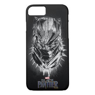 Black Panther | Black & White Head Sketch iPhone 8/7 Case