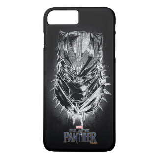 Black Panther | Black & White Head Sketch iPhone 8 Plus/7 Plus Case