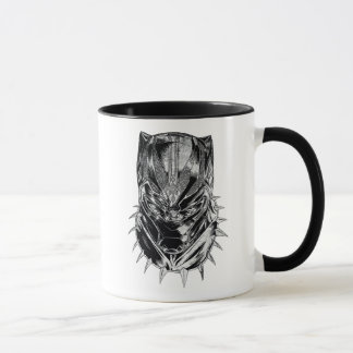 Black Panther | Black & White Head Sketch Mug