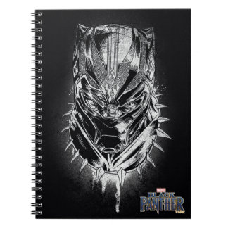 Black Panther | Black & White Head Sketch Notebook