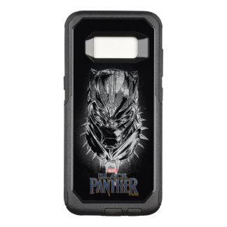 Black Panther   Black & White Head Sketch OtterBox Commuter Samsung Galaxy S8 Case
