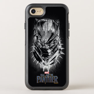 Black Panther | Black & White Head Sketch OtterBox Symmetry iPhone 8/7 Case