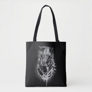 Black Panther | Black & White Head Sketch Tote Bag