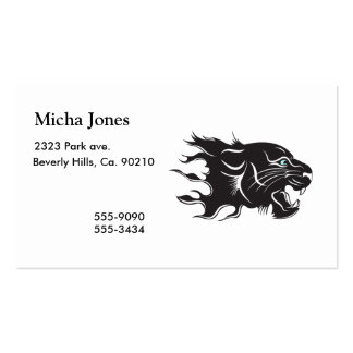 Black Panther Blue Eyes Business Card Templates