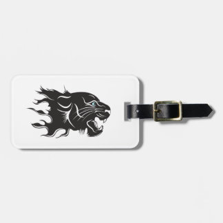 Black Panther Blue Eyes Luggage Tag