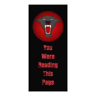 Black Panther Bookmark Template Personalized Rack Card