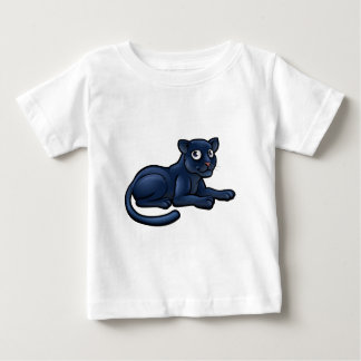 Black Panther Cartoon Character Baby T-Shirt