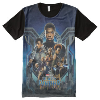 Black Panther | Characters Over Wakanda All-Over Print T-Shirt
