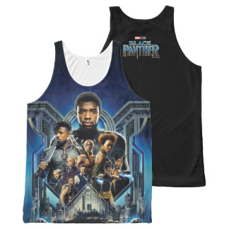 Black Panther   Characters Over Wakanda All-Over Print Tank Top