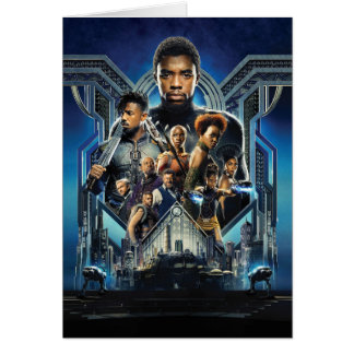 Black Panther | Characters Over Wakanda Card