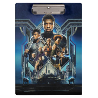 Black Panther | Characters Over Wakanda Clipboard