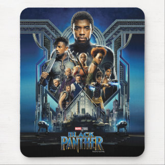 Black Panther | Characters Over Wakanda Mouse Mat