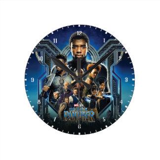 Black Panther | Characters Over Wakanda Round Clock