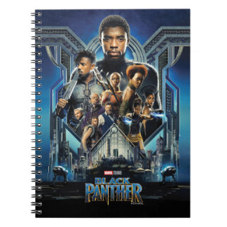 Black Panther | Characters Over Wakanda Spiral Notebook