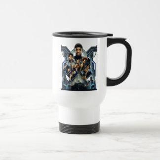 Black Panther   Characters Over Wakanda Travel Mug
