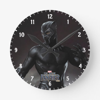 Black Panther | Claws Out Round Clock