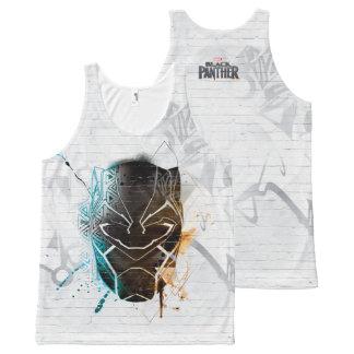Black Panther   Dual Panthers Street Art All-Over Print Tank Top