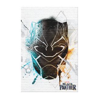 Black Panther | Dual Panthers Street Art Canvas Print