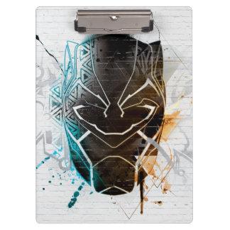Black Panther | Dual Panthers Street Art Clipboard