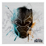 Black Panther | Dual Panthers Street Art Poster