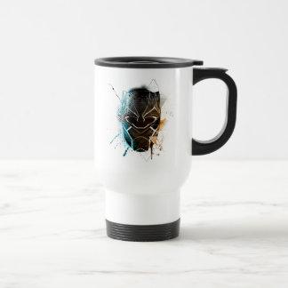 Black Panther   Dual Panthers Street Art Travel Mug
